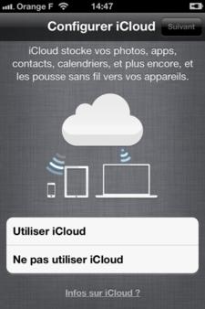 sauvegarder des données sur iCloud